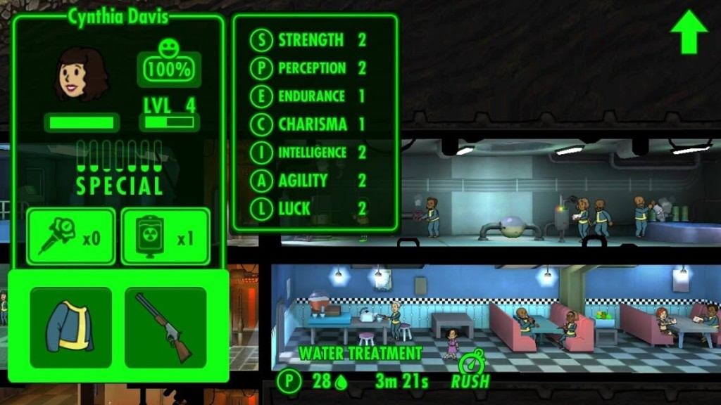 fallout shelter характеристики персонажей