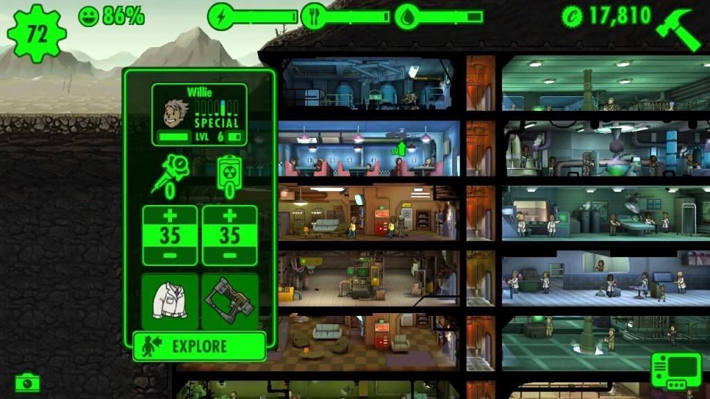 fallout shelter как лечить персонажей