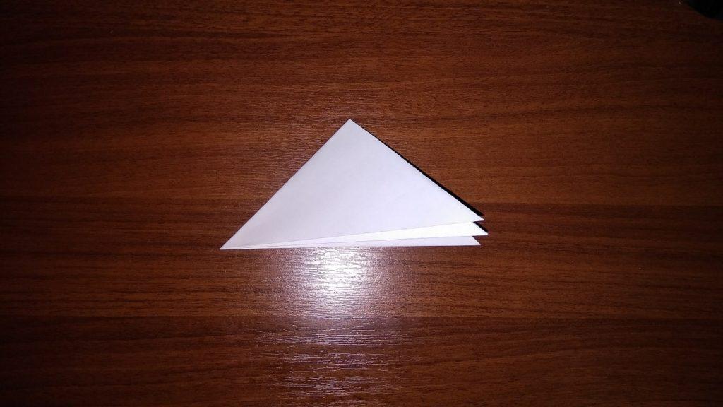 как сделать снежинку из бумаги оригами