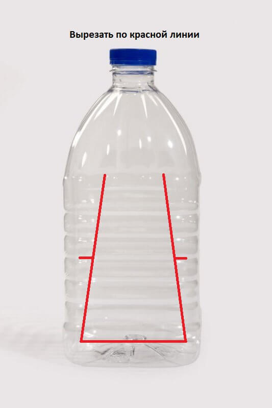 кормушка из 5 литровой пластиковой бутылки