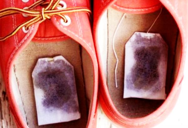 пакетики от чая в обувь