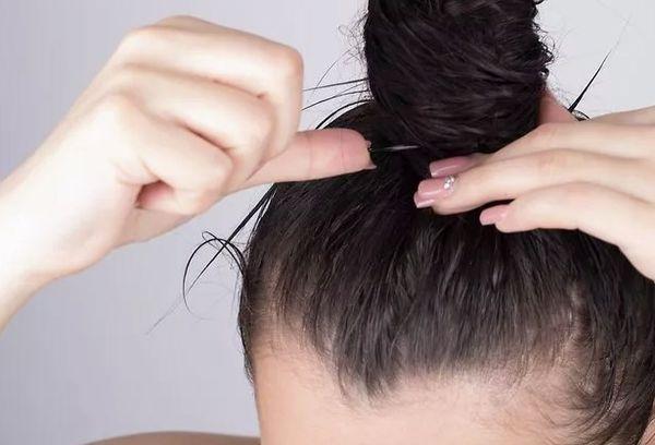 Пучок эффект мокрых волос