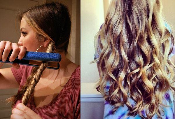 Укладка утюжком на длинные волосы