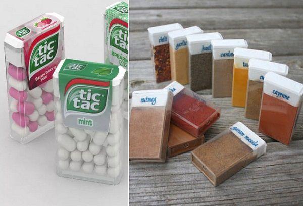Специи в упаковке от конфеток Tik Tac