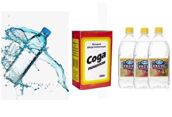Сода, уксус и вода