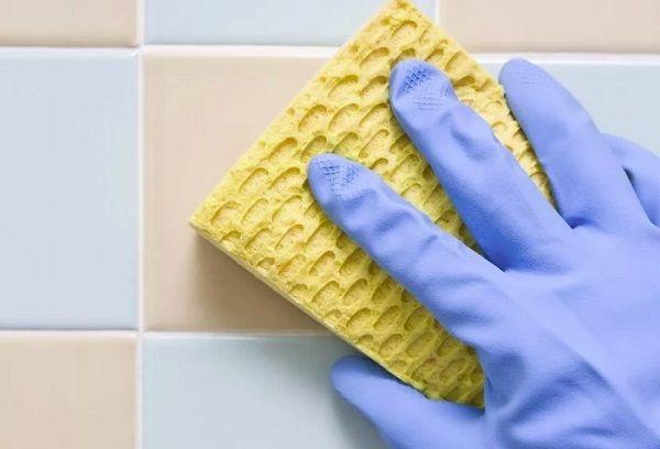 Отмываем плитку