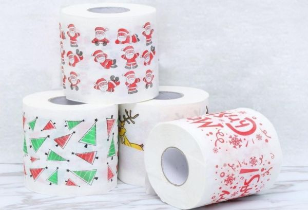 Новогодняя туалетная бумага