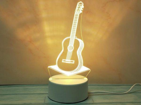 светодиодный 3Д светильник гитара