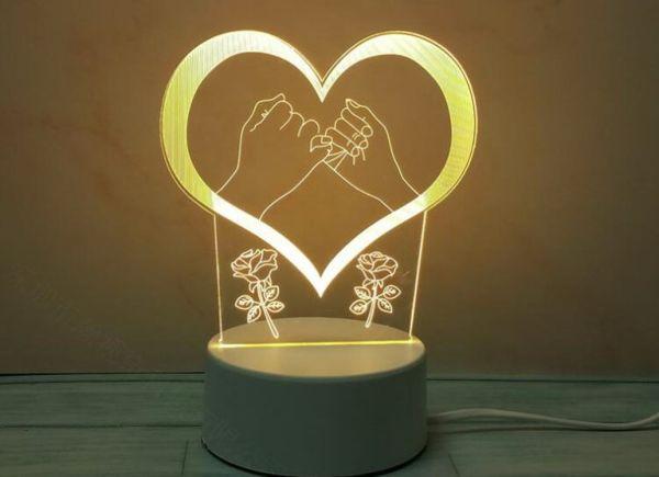светодиодный 3Д светильник