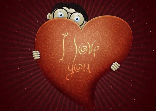 Рисунки с сердечками про любовь