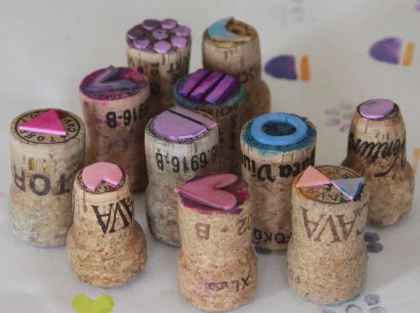 Штамп из винных пробок