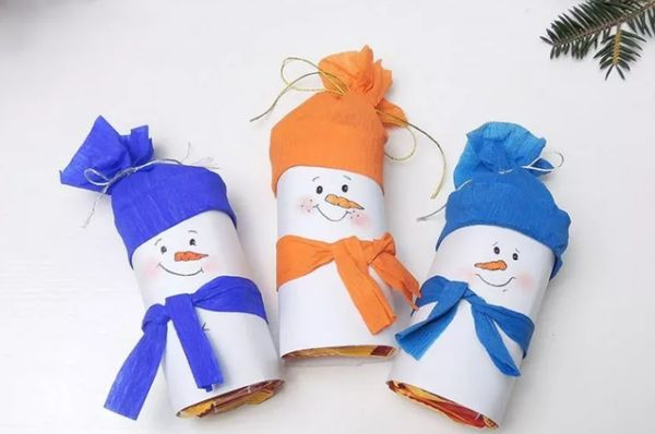 Снеговики поделки