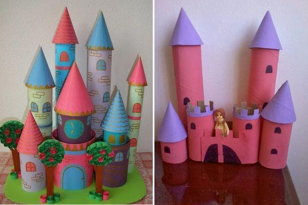 Замок из туалетных втулок