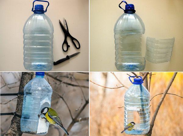 Кормушка для птиц из бутылки
