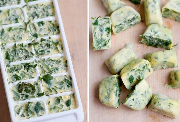 Замороженный соус с зеленью