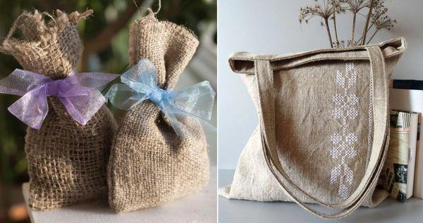 Мешочки и сумочки из Мешковины