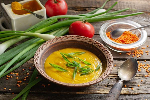 Овощной суп-пюре с куркумой
