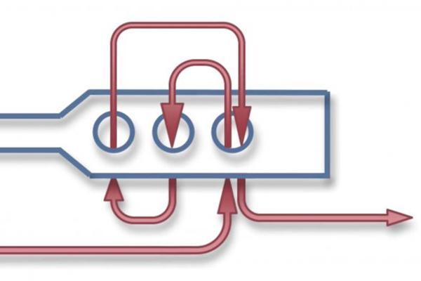 Схема застегивания стяжки, сделанной из пластиковой бутылки