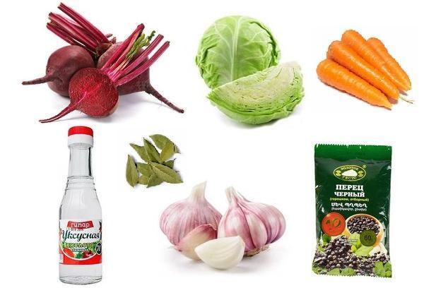 Ингредиенты для засола капусты