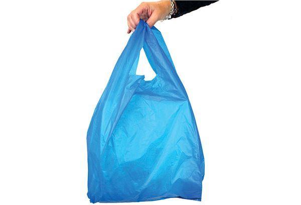 Синий целлофановый пакет