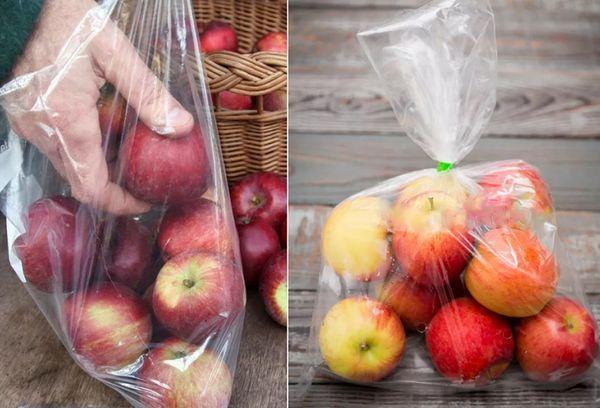 Хранение яблок в пакете