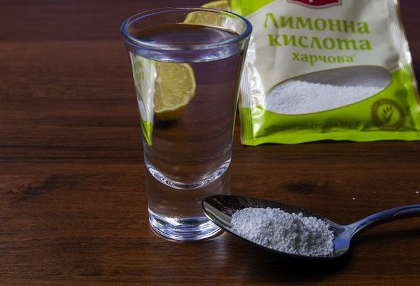 Раствор с лимонной кислотой