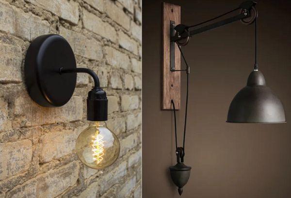Настенный светильник лофт