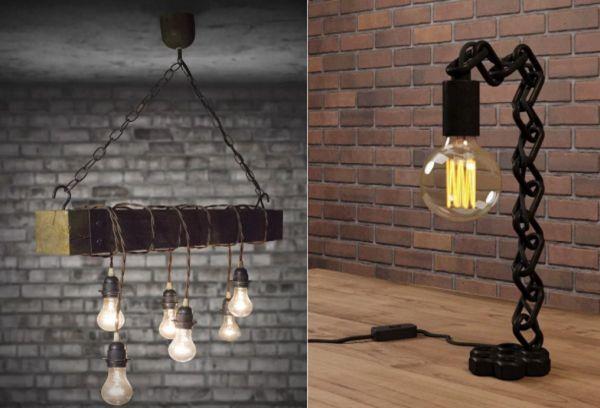 Светильники на цепи или шнуре