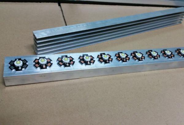 Самодельный радиатор для светодиода