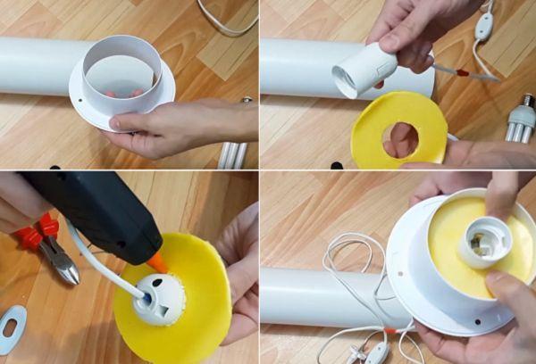 Самодельный светильник изготовление 1