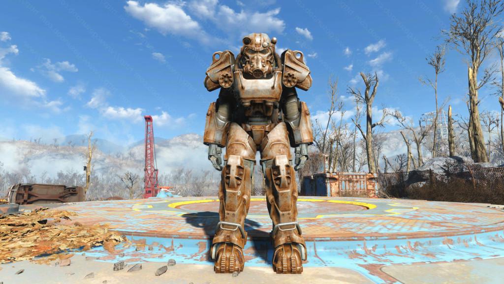 fallout 4 как снять силовую броню