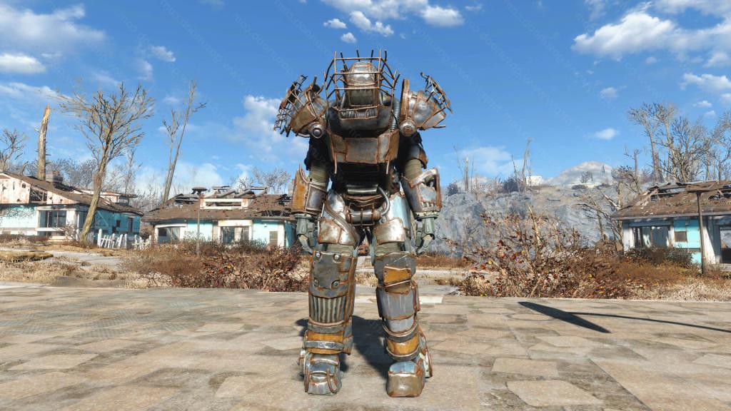 fallout 4 как выйти из силовой брони