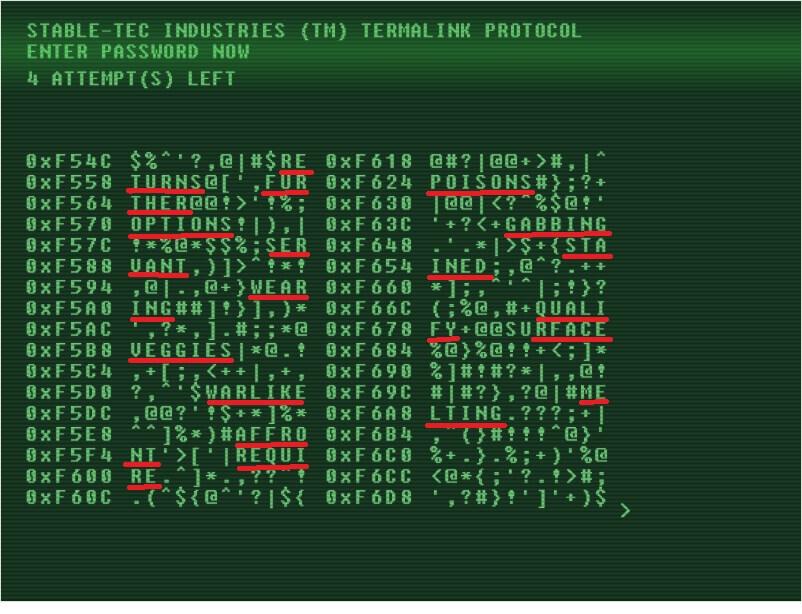 fallout 4 взлом терминалов