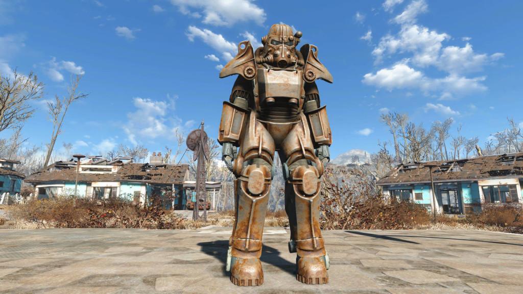 как починить силовую броню в fallout 4