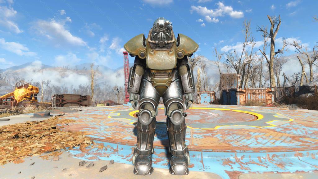 как зарядить силовую броню в fallout 4