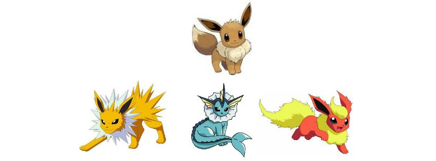 эволюция eevee pokemon go