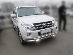 Установка ДХО на Mitsubishi Pajero 3