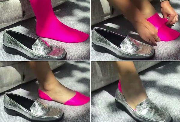 Длинные носки под обувью