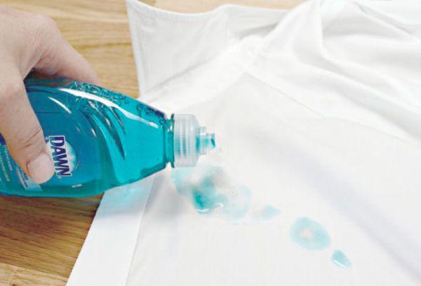 Жидкость для мытья посуды от пятен