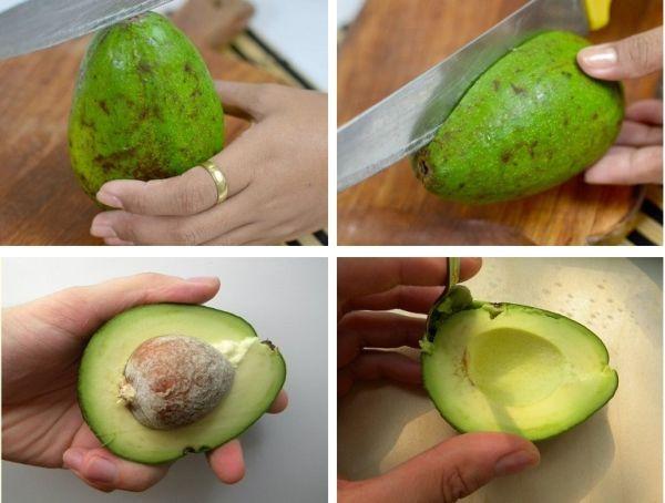 очистки авокадо