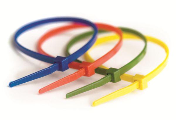 Пластиковые хомуты разноцветные