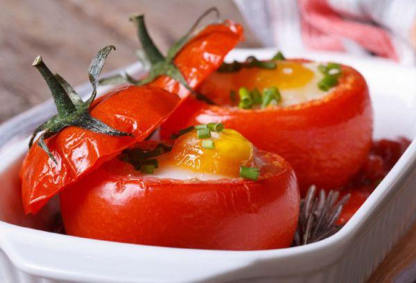 омлет в томатах