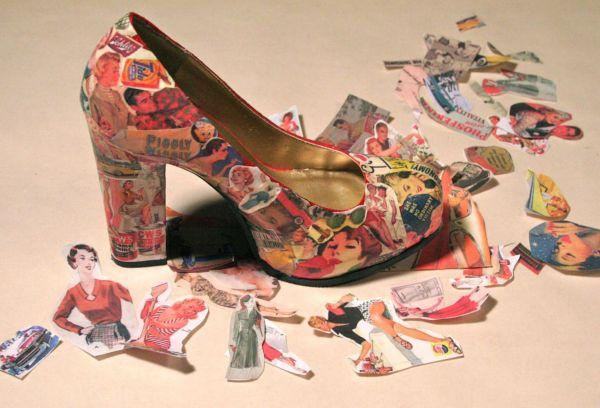 Туфля с декупажем