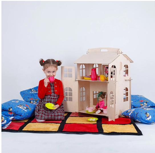 3. Двухэтажный домик для кукол