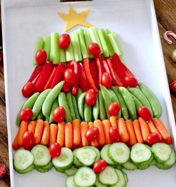 Новогодняя елка из овощей