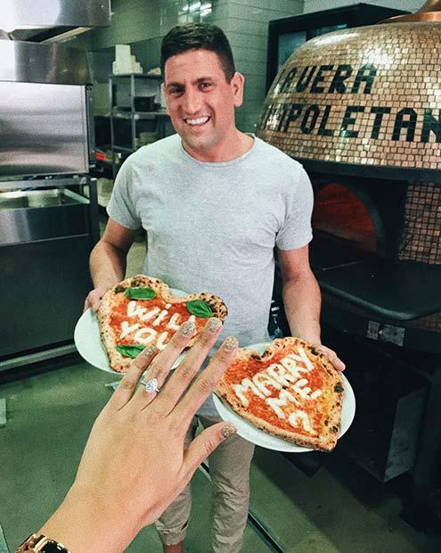 Предложение с помощью пиццы