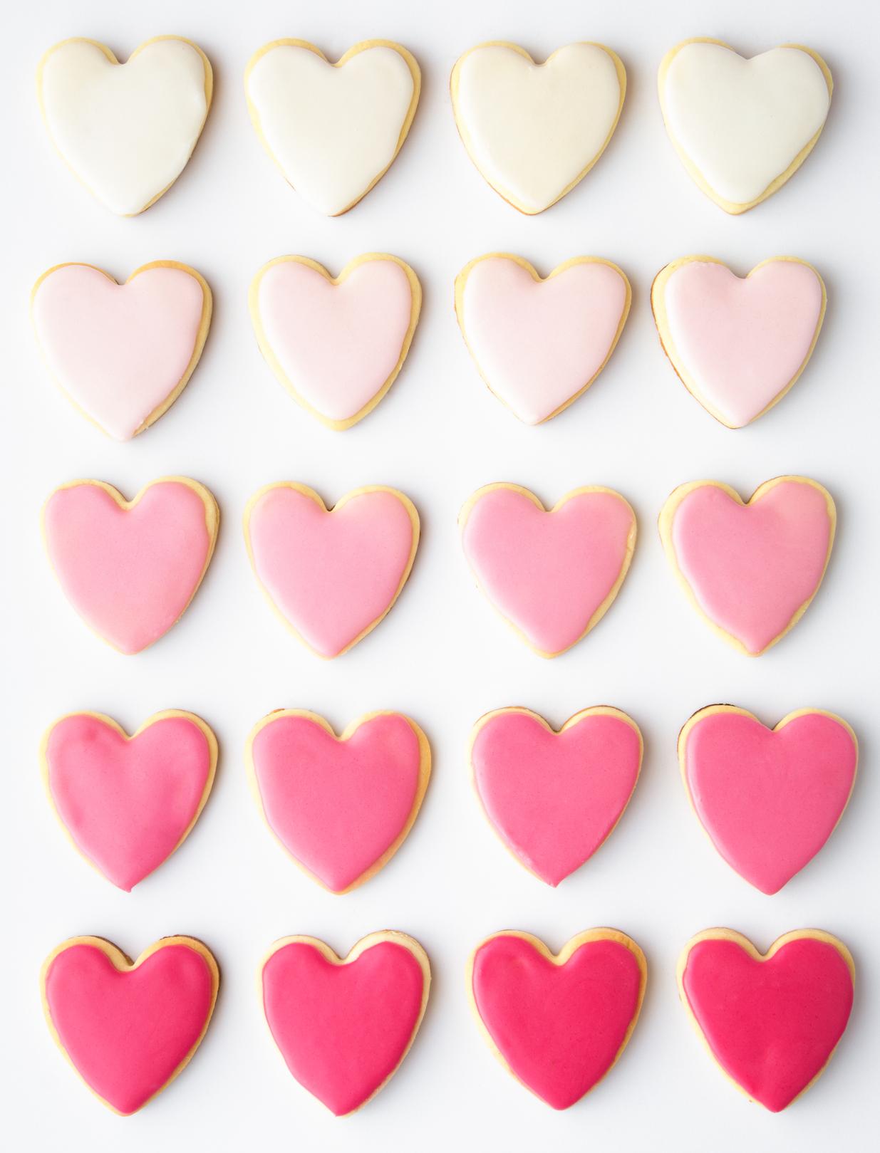 Сахарное печенье в форме сердца
