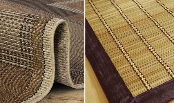 Ротанговые дорожки и циновки из бамбука