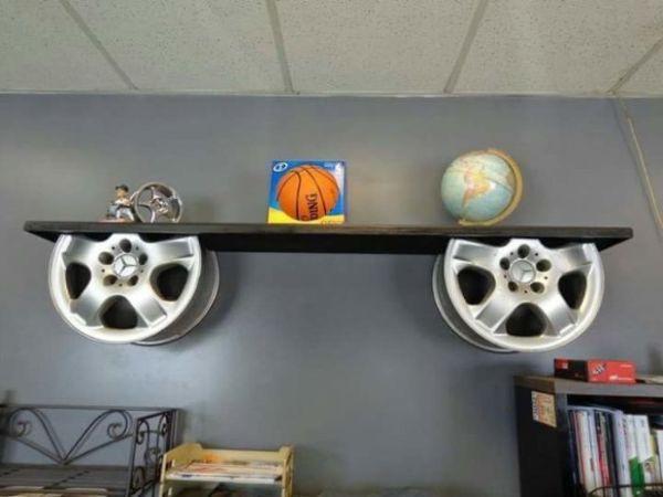 Декор из колесных дисков