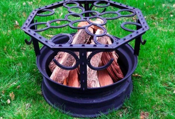 Мангал из колесных дисков